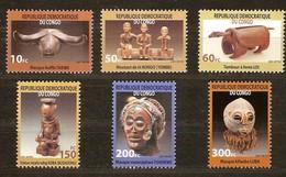 Congo 2002 OBCn° 2099-2104 *** MNH Cote 13,00 Euro Masques Maskers - Ongebruikt