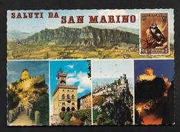 Saint Marin San Marino - CPSM Nice Stamp Timbre - San Marino