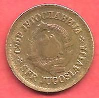 5 Dinara , YOUGOSLAVIE , Cupro-Zinc , 1965 , N° KM # 43 - Yougoslavie