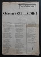 Partition Musicale - Chanson D'Eugène Perrussel - Pour Le Noël Du Soldat - Chanson à Guillaume II - Partitions Musicales Anciennes
