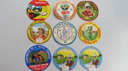 lot N °54 de 8 etiquettes de fromage neuves
