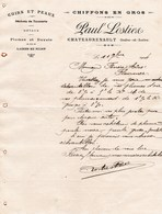 CHATEAURENAULT PAUL LOSTIER CHIFFONS EN GROS CUIRS ET PEAUX DECHET DE TANNERIE METAUX PLUMES DUVET LAINES EN SUINT 1904 - France