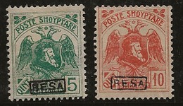 Albanie 1922 N°Y.T. :  128 Et 129 * - Albania