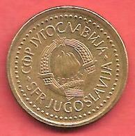 10 Dinara , YOUGOSLAVIE , Cupro-Zinc , 1990 , N° KM # 139 - Yougoslavie