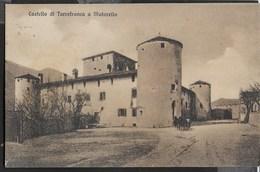 CASTELLO DI TORREFRANCA A MATARELLO - FORMATO PICCOLO - VIAGGIATA DA ROVERETO 11.07.1929 - Castelli