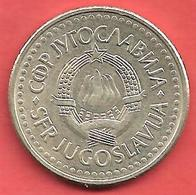2 Dinara , YOUGOSLAVIE , Cupro-Nickel-Zinc , 1991 , N° KM # 143 - Yougoslavie