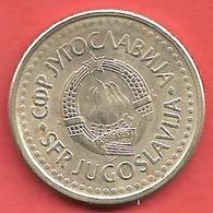 1 Dinar , YOUGOSLAVIE , Cupro-Nickel-Zinc , 1990 , N° KM # 142 - Yougoslavie
