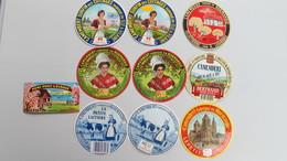 Lot 10 étiquettes. (7 Neuves) - Fromage