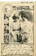 766. BELLE CPA ART-NOUVEAU REUTLINGER? ARTISTES DEBUT 20è SIECLE. ELISE DE VERE ET DUPARC 1901 - Artisti