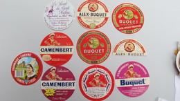 Lot 10 étiquettes. (10 Neuves) - Fromage