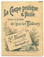 Tarifs Publicitaires Tailleurs P. MAURY Marchand Tailleur à SOUILLAC LOT De 1896 Format 10/14 - France