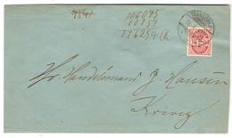 1903 DK 10öre Rose (Yv36) Sur L De TRANGISVAAG Du 18/1/1903 Pour KVIVIG (les 2 Localités Iles Féroé) - Féroé (Iles)