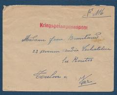 Enveloppe D'un Prisonnier De Guerre - Marcophilie (Lettres)