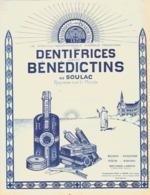"""PUB  SAVON DENTIFRICE  """" BENEDICTINS De SOULAC  """"  1924 ( 2 ) - Publicité"""