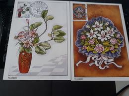 2 Cartes Carte Maximum Bouquets - N° 1551 Et 1552 1986 - Maximum Cards