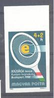 Ungarn / Magyar Posta  Michel #  3537 B  Geschnitten OR  EM Tennis - Ungebraucht