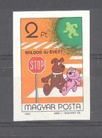 Ungarn / Magyar Posta  Michel #  3594  B **  Geschnitten Neujahr 1983 - Neufs