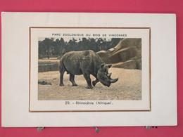 Visuel Très Peu Courant - 75 - Paris - Parc Zoologique Du Bois De Vincennes - Rhinocéros - Recto-verso - Arrondissement: 12