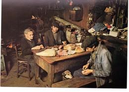 CPM, Grand Format 17 X 12, Repas Dans Une Ferme Par 3 Paysans, Intérieur D'une Maison, Monde Agricole, Jamais Voyagée - Cultures