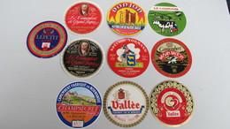 Lot 10 étiquettes. (8 Neuves) - Fromage