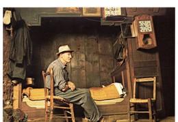 CPM, Grand Format 17 X 12, Intérieur D'une Maison Dans Ferme, Grand-père En Sabot, Monde Agricole, Jamais Voyagée - Cultures