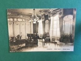 Cartoline Lausanne - Hotel Cecil - Grand Salon - 1930 Ca. - Cartoline