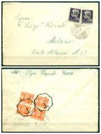 V7888 ITALIA VENEZIA GIULIA AMG VG 1946 Lettera Affrancata Con Imperiale Senza Fasci 1 L. Sovrast. 2 Val. Da Trieste 10. - 7. Trieste