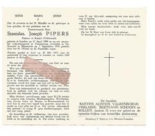 P 845. E.H. STANISLAS PIPERS - Pastoor Te KESSELT -°LANDEN 1899 / +ongeval In VROENHOVEN  En + In MAASTRICHT1955 - Images Religieuses