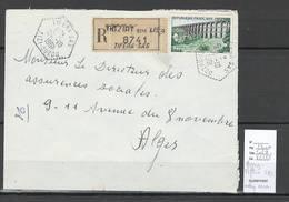 Algerie - Lettre  - Cachet Hexagonal TIFERA SAS -  Marcophilie - Algérie (1924-1962)