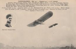 Rare Cpa Paris-Madrid Aviateur Roland Garros Sur Monoplan Blériot - ....-1914: Precursors