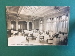 Cartoline Lausanne. - Hotel Cecil. - Salle A Manger - 1920 Ca. - Postkaarten