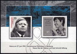 Bund Block 83 **, Helmut Und Hannelore (Loki) Schmidt - BRD