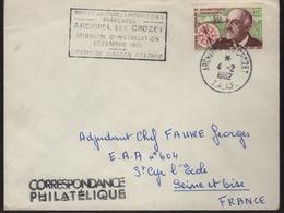 """Archipel Des Crozet 4-2 1962  Cachet Manuel Sur N° 19 Plus Cachet Rectangulaire """"Mission D'Installation...."""" - Tierras Australes Y Antárticas Francesas (TAAF)"""