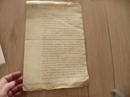 Cabinet D'Hozier Refus De Noblesse 13/11/1776 3 Page Environs A3 Bretagne Keralio Maurepas Justifications Du Refus - Manuscripten