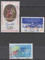 FRANCE 1989__N°  2574/2589/2590__ OBL VOIR SCAN - Frankreich
