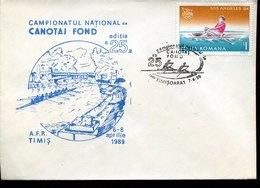 43202 Romania   Special Cover  And Postmark 1989 Timisoara  Rudern, Regatta, Aviron,rowing - Aviron