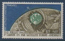 TAAF 1963  Télécommunications Spatiales    N°YT PA 6 ** MNH - Poste Aérienne