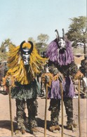 Carte 1960 REPUBLIQUE DE LA HAUTE VOLTA / DANSEURS MASQUES - Burkina Faso