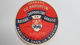 Etiquette Ancienne ( Jamais Collée) - Fromage