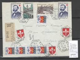 Algerie - Lettre  - Cachet Hexagonal CHETOUANE SAS -  Marcophilie - Algérie (1924-1962)