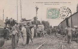 80470 AILLY SUR SOMME - CATASTROPHE  TRAIN Du 11 JUILLET 1906 - DEBLAIEMENT DES VOIES - France