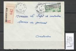 Algerie - Lettre  - Cachet Hexagonal SIDI MAROUF SAS -  Marcophilie - Algérie (1924-1962)