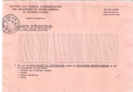 Essonne :- LES ULLIS Envoi D'une Carte D'électeur En Franchise - Poststempel (Briefe)