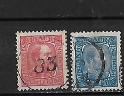 Islande Yv. 38 Et 40 O. - 1873-1918 Deense Afhankelijkheid