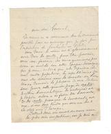 """GUSTAVE AIMARD 1818/1883 Autographe à Bordone ( Cf .Garibaldi )  """" La Démocratie ... Un But : Les Etats-Unis D'Europe """" - Autographes"""