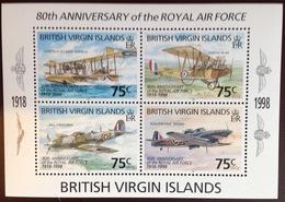 Virgin Islands 1998 RAF Aviation Aircraft Minisheet MNH - Iles Vièrges Britanniques