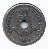 LEOPOLD II  * 5 Cent 1902 Vlaams * Nr 5188 - 1865-1909: Leopold II