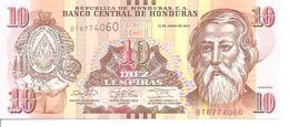 Honduras New 10 Lempiras 2014 UNC - Honduras