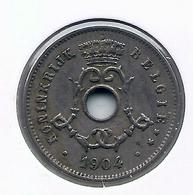 LEOPOLD II  * 5 Cent 1904 Vlaams * Nr 5191 - 1865-1909: Leopold II