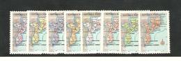 1954 Yv 442/49 Neufs ** (les 8 Valeurs Carte De La Province) - Mozambique